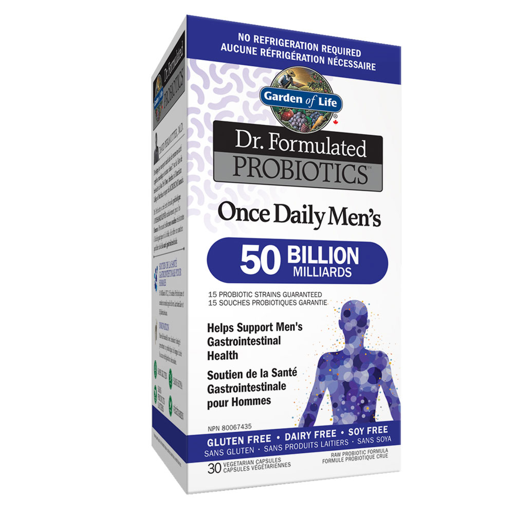 : Garden of Life Dr. Formulated Once Daily Mens 50B Probiotics, Shelf Stable