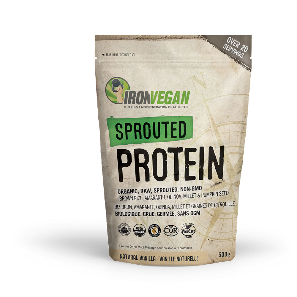: Iron Vegan Sprouted Protein, Vanilla