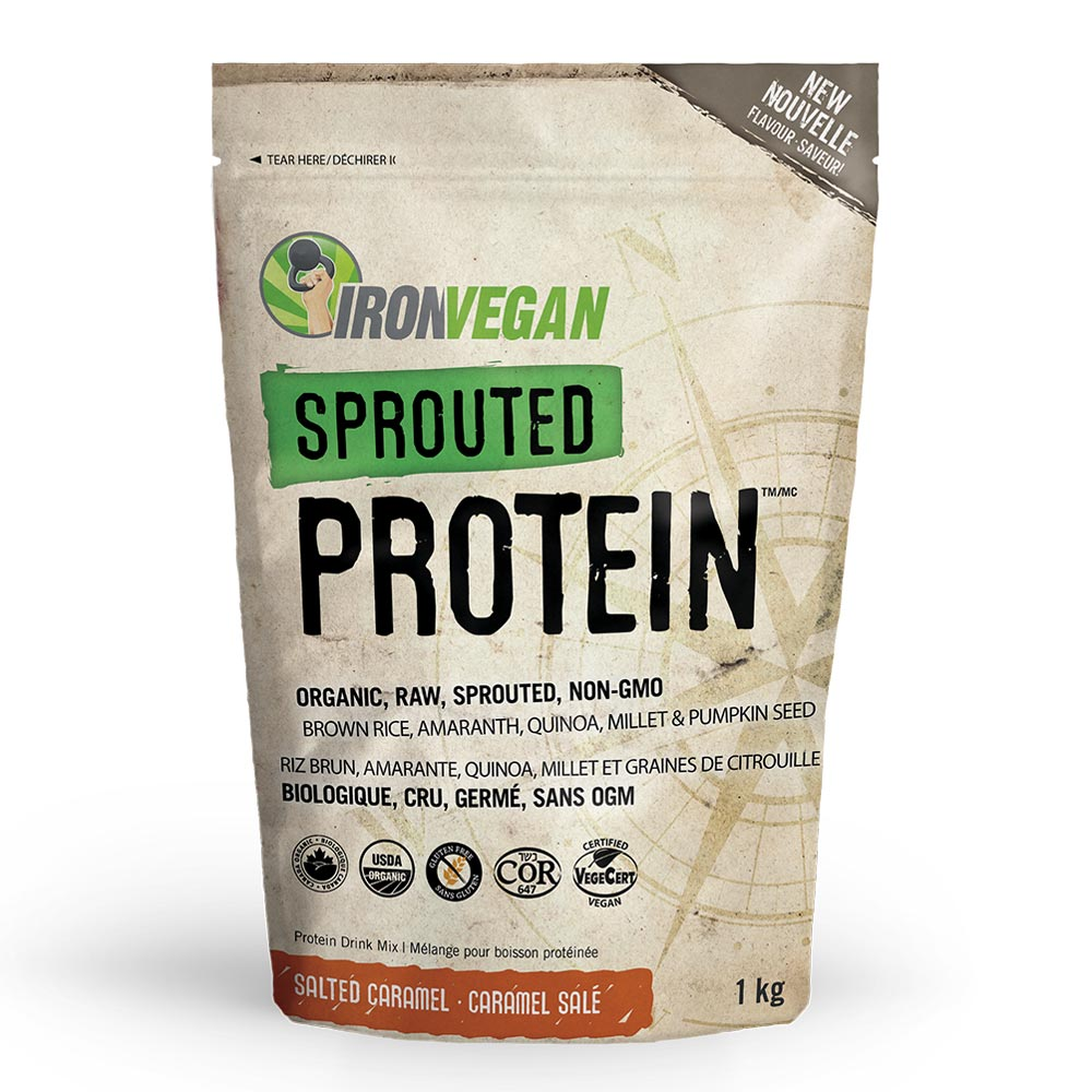 : Iron Vegan Sprouted Protein, Salted Caramel