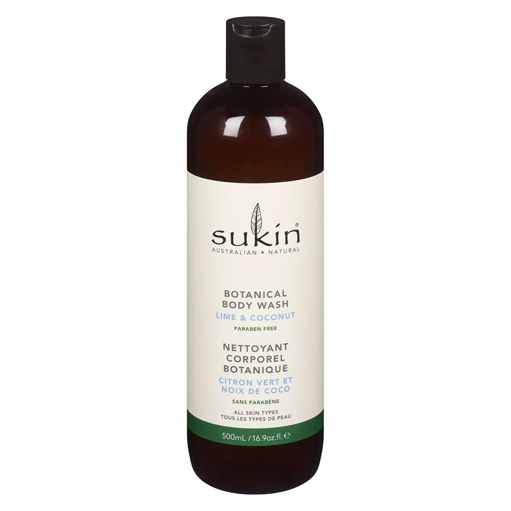 : Sukin Botanical Body Wash Lime & Coconut 500ml